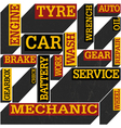 auto service words poster vector image