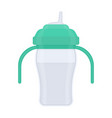 baby sippy cup isolated on white vector image vector image