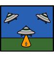 Basic UFO vector image vector image