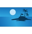 Beautiful islands silhouette for summer holiday vector image vector image