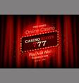 big win slots 777 casino banner vector image vector image
