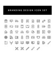 branding and design icon set with black color vector image vector image