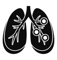 bronchitis lungs icon simple style vector image vector image