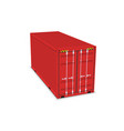 cargo container 3d isolated storage shipping box vector image
