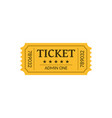cinema ticket isolated on white retro style vector image