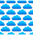 cloud pattern with blue round cumulus clouds over vector image