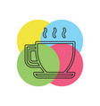 coffee cup or mug icon coffee hot drink espresso vector image