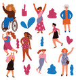 collection of women of different appearance vector image vector image