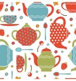 Colorful tea party seamless pattern