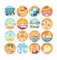 construction concept icons set collection of flat vector image vector image