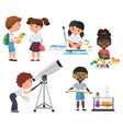 cute pupils activity in school set little vector image vector image