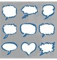 doodle comics set vector image vector image