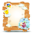 easter signboard isolated on white eps10 vector image