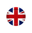 english flag on the round button vector image