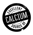 Excellent source of calcium stamp vector image vector image