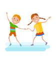 featuring dancing kids vector image vector image
