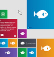fish icon sign buttons Modern interface website vector image