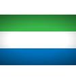 Flag of Sierra Leone vector image