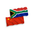 flags republic south africa and china on a vector image