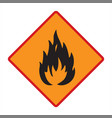 flammable technical warning sign vector image