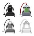 foot pump for car single icon in cartoonoutline vector image vector image