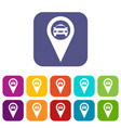 geo taxi icons set vector image vector image