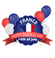 happy bastille day poster in vintage style vector image vector image