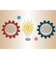 infographic design circuit light bulb silhouette vector image vector image