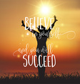 Inspirational quote background with joyous female vector image vector image