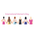 international womens day female characters vector image