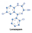 Lorazepam is a benzodiazepine medication vector image vector image