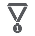 medal glyph icon school and sport award sign vector image vector image
