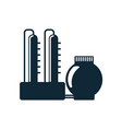 oil refinery simple flat icon pictogram vector image