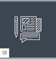 press release line icon vector image