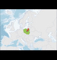 republic poland location on europe map vector image