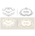 set flourish frames borders labels vector image vector image