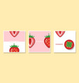set of fruit banners with strawberry vector image vector image