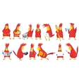 set of funny parrots vector image vector image