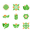 set of green logos template creative natural and vector image vector image