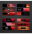 Set of modern design banner template in Chinese vector image vector image