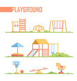 set of playground elements - modern cartoon vector image vector image