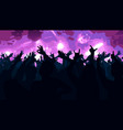 silhouettes of dancing people in club vector image vector image