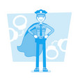 super policeman at duty vector image vector image