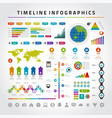 timeline infographics design templates set charts vector image vector image