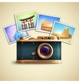Travel Photo Background vector image vector image