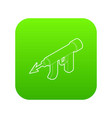 underwater speargun icon green vector image