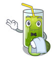 waiter avocado smoothies are isolated on vector image vector image