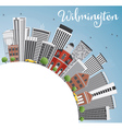 Wilmington Skyline with Gray Buildings vector image vector image