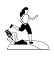 woman training sport outdoors vector image