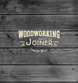 Woodworking badges logos and labels for any use vector image vector image